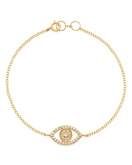 Moon & Meadow - Diamond Evil Eye Bracelet in 14K Yellow Gold, 0.26 ct. t.w. - 100% Exclusive