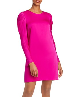 MILLY - Carina Puff-Sleeve Silk-Blend Dress