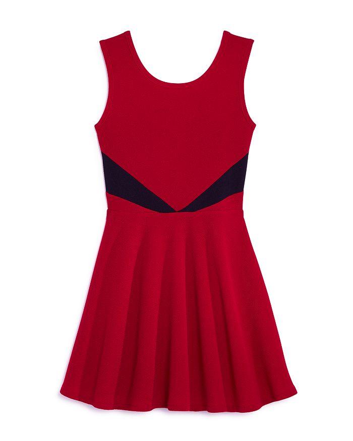 AQUA - Girls' Contrast Fit-and-Flare Dress, Big Kid - 100% Exclusive