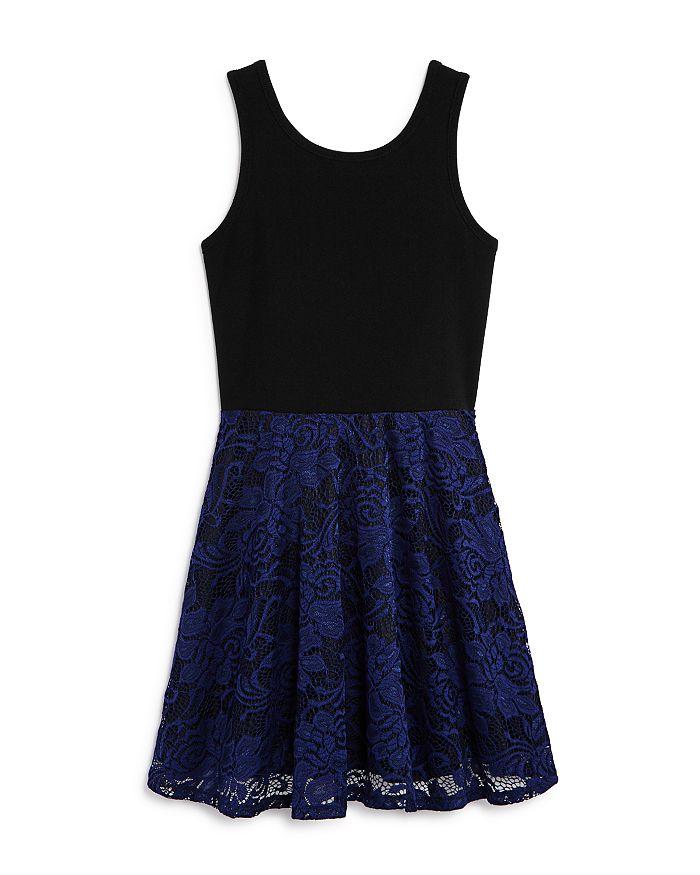 AQUA - Girls' Lace-Overlay Dress, Big Kid - 100% Exclusive