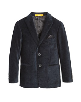 Tallia - Boys' Paisley Velvet Sport Coat - Big Kid