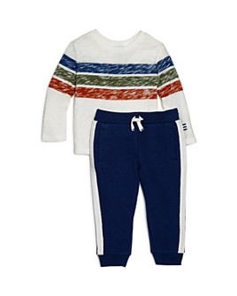 Splendid - Boys' Striped Tee & Rib-Trim Jogger Pants Set - Baby