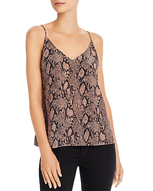 Frame Tops CLASSIC MIXED-STRIPE SILK CAMISOLE