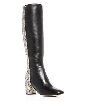 Cole Haan - Women's Rianne Python-Embossed Block-Heel Boots