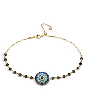 Bloomingdale's - Diamond, Blue Sapphire & Turquoise Bracelet in 14K Yellow Gold - 100% Exclusive
