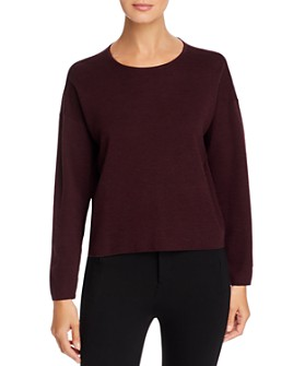 Eileen Fisher Petites - Wool Cropped Crewneck Sweater