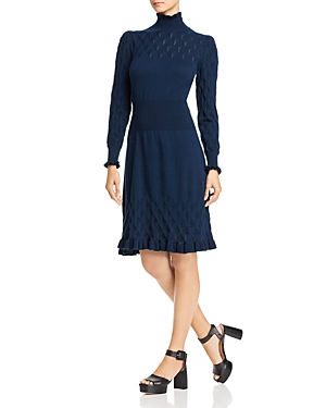 La Vie Rebecca Taylor Dia Pointelle Knit Sweater Dress