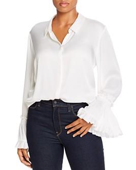 Kobi Halperin Plus - Hana Button Front Silk Blouse