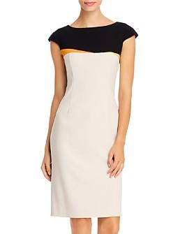 PAULE KA - Color-Blocked Sheath Dress