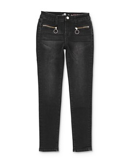 7 For All Mankind - Girls' Zip-Pocket Skinny Stretch Jeans - Big Kid