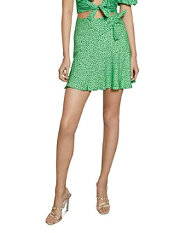 Bec & Bridge - Neve Tie-Front Mini Skirt