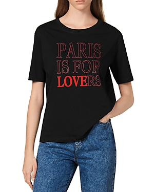 Sandro Tops PARY PARIS IS FOR LOVERS GRAPHIC TEE
