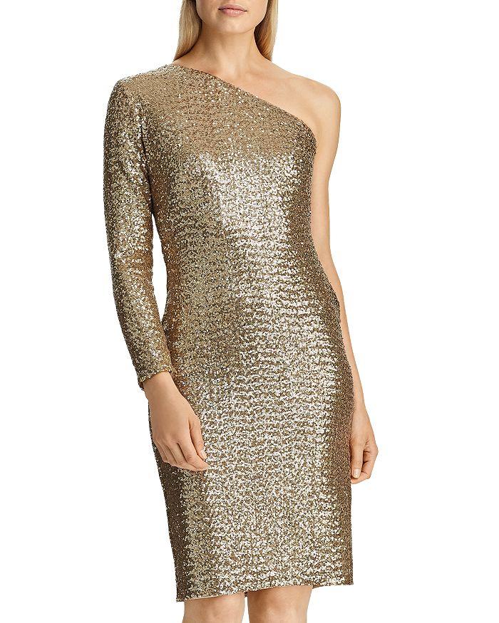 Ralph Lauren - One-Shoulder Sequin Dress - 100% Exclusive