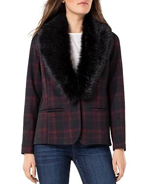 Liverpool Los Angeles Faux-Fur Collar Blazer