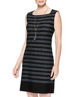 Misook - Sleeveless Striped Knit Dress