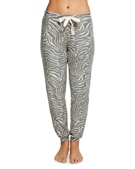 CHASER - Slouchy Zebra Print Jogger Pants