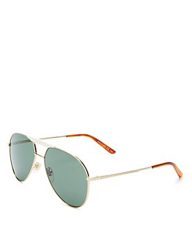 Gucci - Men's Brow Bar Aviator Sunglasses, 59mm