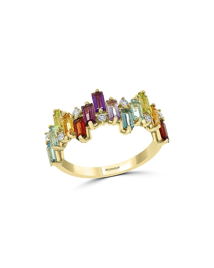 Bloomingdale's - Rainbow Gemstone & Diamond Scattered Ring in 14K Yellow Gold - 100% Exclusive