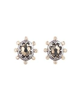 Alexis Bittar - Woodland Fantasy Georgian Stone Stud Earrings
