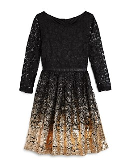 US Angels - Girls' Ombré Lace Dress - Big Kid