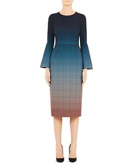 Mary Katrantzou - Sunday Plaid Ombré Midi Dress