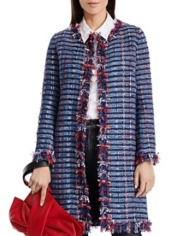 PAULE KA - Gaze Fringed Tweed Coat