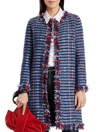 PAULE KA - Gaze Fringed Tweed Coat