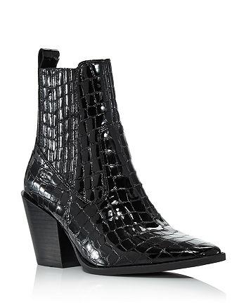 AQUA - Women's Star Croc-Embossed Western Booties - 100% Exclusive