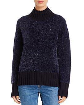 Tory Burch - Metallic Mock-Neck Sweater