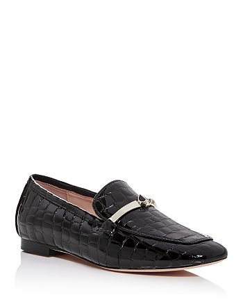 kate spade new york - Women's Lana Croc-Embossed Square-Toe Loafers