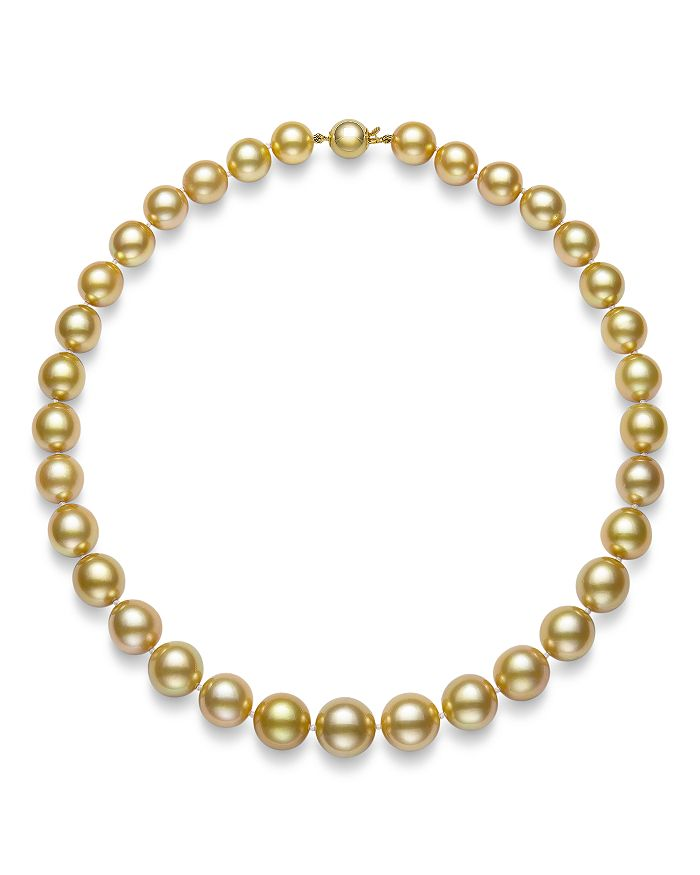 """Bloomingdale's - Golden South Sea Pearl Collar Necklace in 14K Yellow Gold, 17.5"""" - 100% Exclusive"""