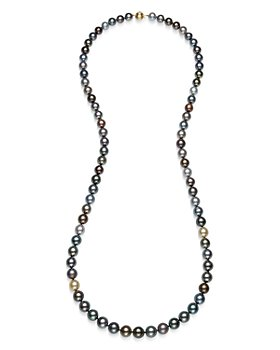 """Bloomingdale's - Tahitian Black Pearl Strand Necklace in 14K Yellow Gold, 36"""" - 100% Exclusive"""