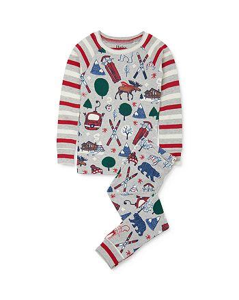 Hatley - Unisex Winter Print Tee & Winter Print Pants Pajama Set - Little Kid, Big