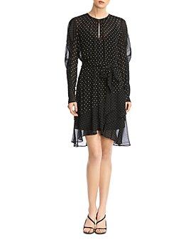 Bailey 44 - Candace Puff-Sleeve Polka Dot Dress