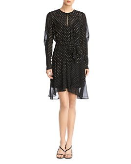 Bailey 44 - Candace Puff-Sleeve Polka Dot Dress