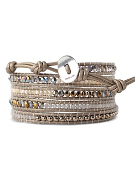 Chan Luu - Sterling Silver & Leather Wrap Bracelet