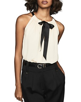 REISS - Mya Gathered Tank with Bow