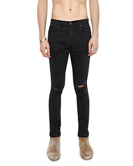 The People Vs. - Skinny Fit Destroyed 1990 Jeans in Faded Black