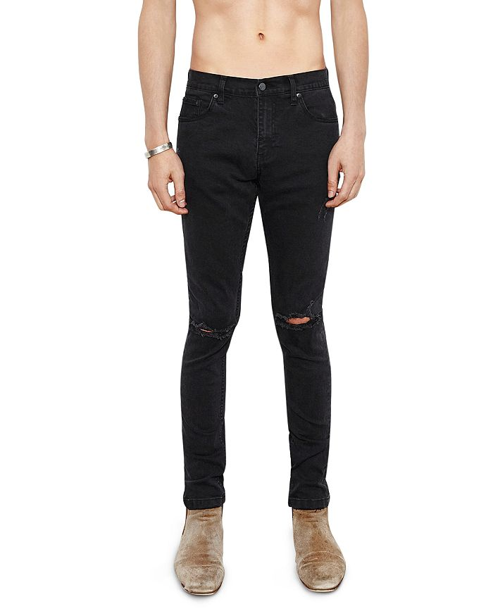 The People Vs. Skinny Fit Destroyed 1990 Jeans In Faded Black