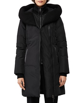 Mackage - Brigid Knit Trim Down Coat - 100% Exclusive