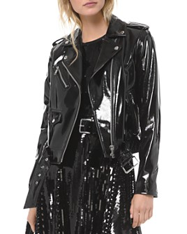 MICHAEL Michael Kors - Textured Leather Moto Jacket