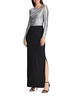 Ralph Lauren - Metallic Layered-Look Dress