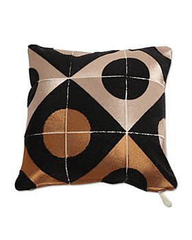 "Global Views - Circle-Marquetry Down Pillow, 20"" x 20"""