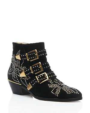Chloe Women's Susan Studded Ankle Booties