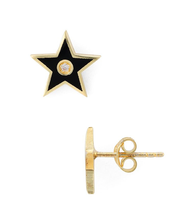 AQUA - Star Stud Earrings in Gold-Plated Sterling Silver or Sterling Silver - 100% Exclusive