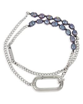 ALLSAINTS - Cultured Freshwater Pearl & Carabiner Wrap Bracelet