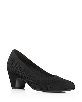 Eileen Fisher - Women's Kiss Knit Mid-Heel Pumps