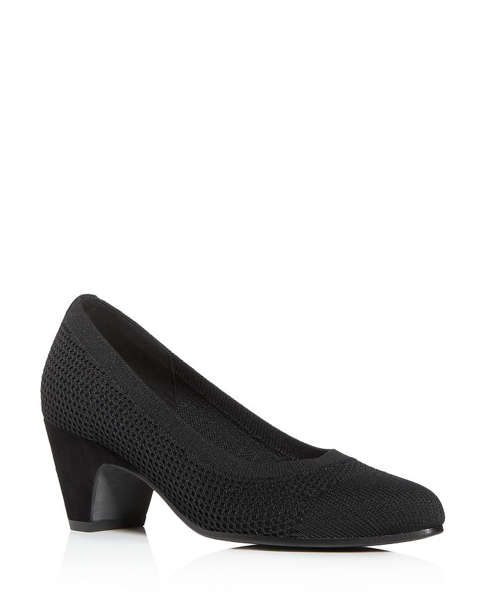 Eileen Fisher - Women's Kiss Knit Mid-Heel Pumps