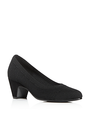 Eileen Fisher Pumps WOMEN'S KISS KNIT MID-HEEL PUMPS