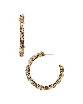 BAUBLEBAR - Antares Simulated Pearl Hoop Earrings
